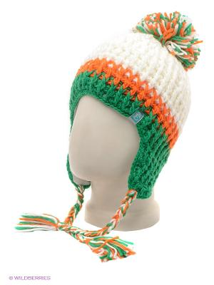 Шапка Ensis. Цвет: белый, зеленый, оранжевый