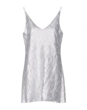 Короткое платье CARLA G.. Цвет: серебристый