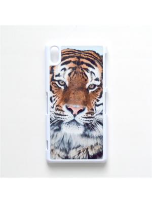 Чехол для Sony Xperia Z2 Тигр Boom Case. Цвет: черный, белый, персиковый