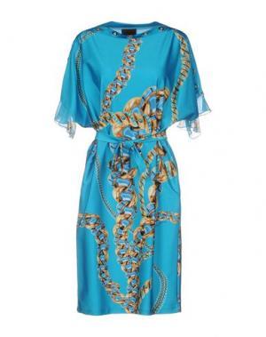 Платье до колена DANIELA DREI. Цвет: бирюзовый