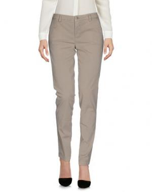 Повседневные брюки REBEL QUEEN. Цвет: серый