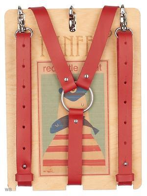 Подтяжки-портупея PANFFF. Цвет: красный