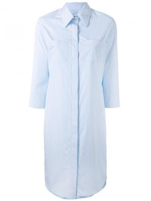 Платье-рубашка в полоску Alberto Biani. Цвет: синий