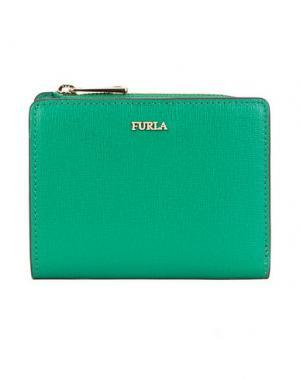 Бумажник FURLA. Цвет: изумрудно-зеленый
