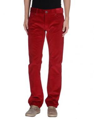 Повседневные брюки FAÇONNABLE. Цвет: красный