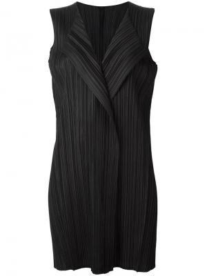 Плиссированный жилет Pleats Please By Issey Miyake. Цвет: чёрный