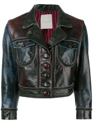 Укороченная куртка Marco De Vincenzo. Цвет: многоцветный
