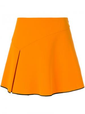 Пышная плиссированная юбка Arthur Arbesser. Цвет: жёлтый и оранжевый