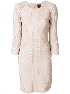 Платье Uria Tony Cohen. Цвет: телесный
