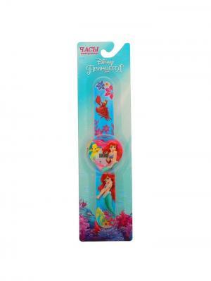 Часы наручные электронные Принцессы Русалочка Disney. Цвет: морская волна,бирюзовый