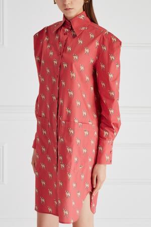 Хлопковое платье-рубашка Sorry, i'm Not. Цвет: none