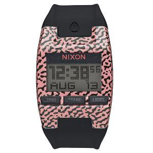 Электронные часы  Comp S Hot Coral Amoeba Nixon. Цвет: черный,розовый
