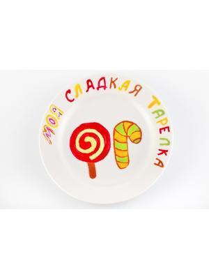 Сладкие  тарелки MyHobbyBox. Цвет: белый