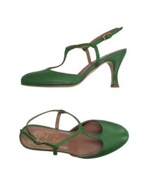Туфли NORA. Цвет: зеленый