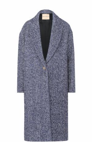 Пальто свободного кроя с карманами Erika Cavallini. Цвет: синий