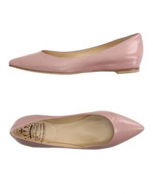 Балетки L'ARIANNA. Цвет: светло-розовый