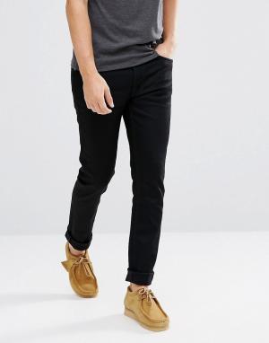 Nudie Jeans Черные суженные книзу джинсы Co Fearless Freddie. Цвет: черный