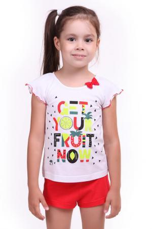 Костюм: футболка, шорты СВIТАНАК. Цвет: белый, красный