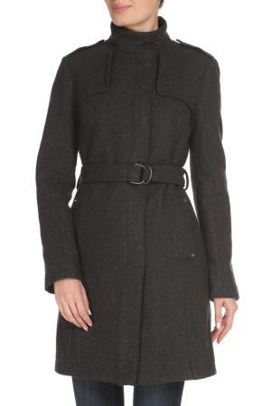 Шерстяное пальто с ремнем в комплекте CNC Costume National C'N'C. Цвет: серый