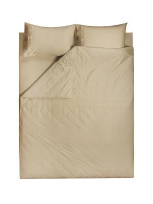 Комплект постельного белья Евро Dream time. Цвет: бежевый