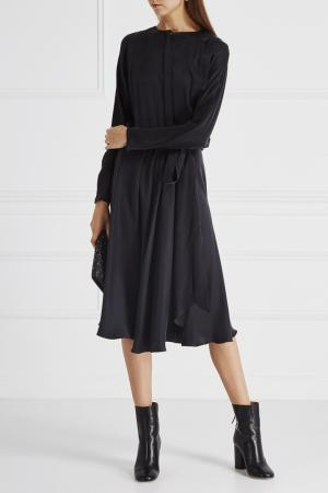 Шелковое платье Chapurin. Цвет: черный