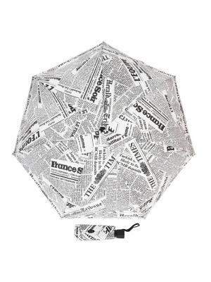 Зонт складной Eclair Bis Guy De Jean. Цвет: черный, белый