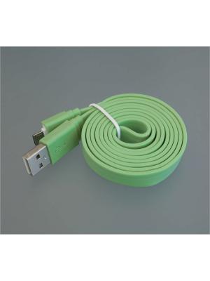Usb кабель Pro Legend плоский micro Usb, 1м,  салатовый. Цвет: салатовый