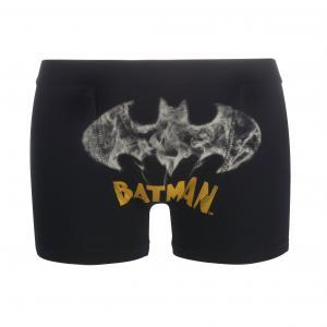 Трусы-боксеры  из хлопка стрейч BATMAN. Цвет: черный