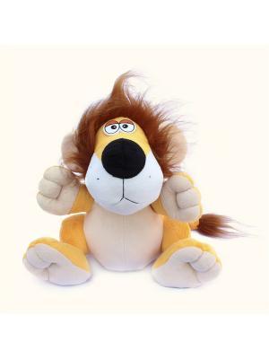 Мягкая игрушка Львенок Филя Malvina. Цвет: желтый