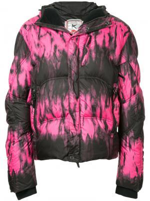 Куртка-пуховик с капюшоном Kru. Цвет: розовый и фиолетовый