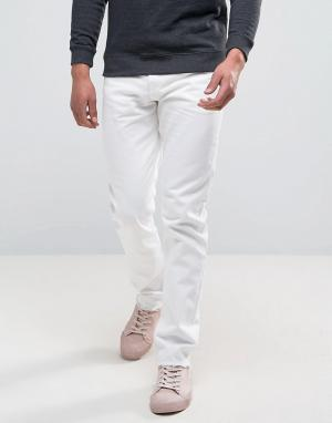 Weekday Белые джинсы скинни с необработанными краями Sharp. Цвет: белый