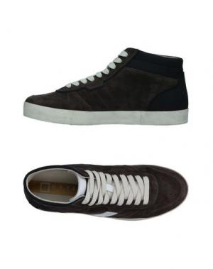 Высокие кеды и кроссовки D.A.T.E.. Цвет: стальной серый