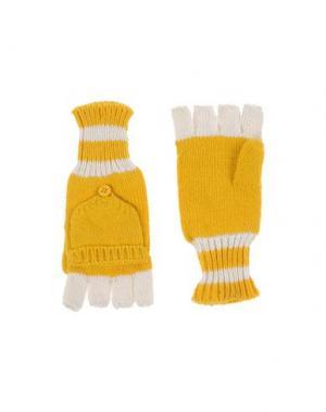 Перчатки STELLA McCARTNEY KIDS. Цвет: желтый