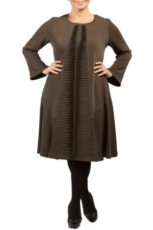 Платье Zedd Plus. Цвет: brown