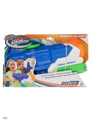 Нерф супер сокер бричбласт (бластер) Hasbro. Цвет: зеленый