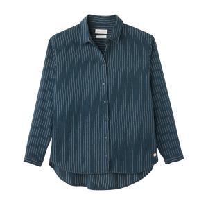Рубашка в блестящую полоску CELESTINE HARRIS WILSON. Цвет: сине-зеленый