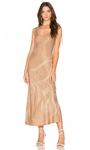 Платье formentera Cleobella. Цвет: коричневый