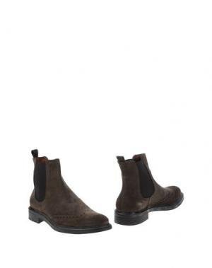 Полусапоги и высокие ботинки ANGELO NARDELLI. Цвет: стальной серый