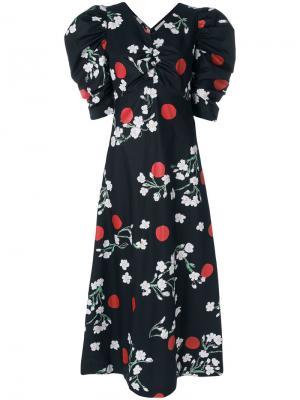 Платье с принтом Wow blossom Isa Arfen. Цвет: чёрный