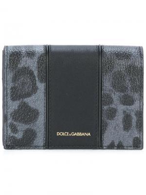 Кошелек с леопардовым рисунком Dolce & Gabbana. Цвет: чёрный