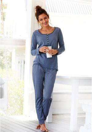 Пижама Arizona. Цвет: джинсовый меланжевый, темно-серый меланжевый
