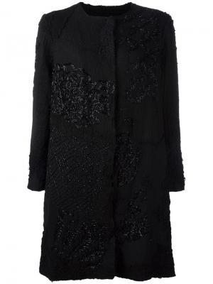 Декорированное пальто By Walid. Цвет: чёрный