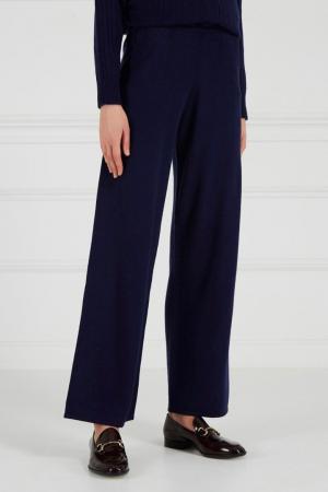 Синие кашемировые брюки Addicted. Цвет: синий