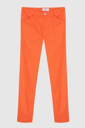 Джинсы Young Versace. Цвет: оранжевый