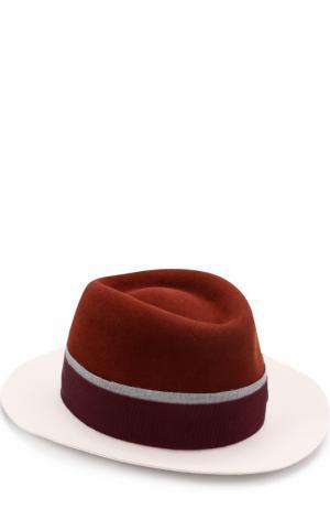 Фетровая шляпа Andre с лентой Maison Michel. Цвет: коричневый
