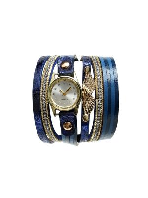 Браслет- часы Olere. Цвет: синий, золотистый