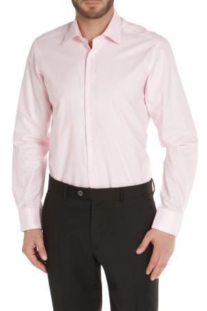 Полуприлегающая рубашка с застежкой на пуговицы The Savile Row. Цвет: розовый