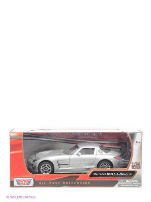 Машинка коллекционная Mercedes Benz SLS АMG GT3 в масштабе 1к24 Motormax. Цвет: серый