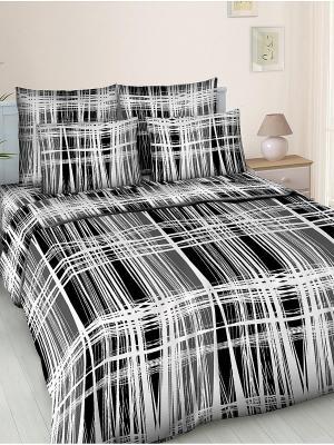 Комплект постельного белья Letto B91-3, бязь, 1,5-сп. Цвет: черный