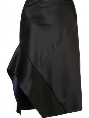 Асимметричная юбка Narciso Rodriguez. Цвет: чёрный